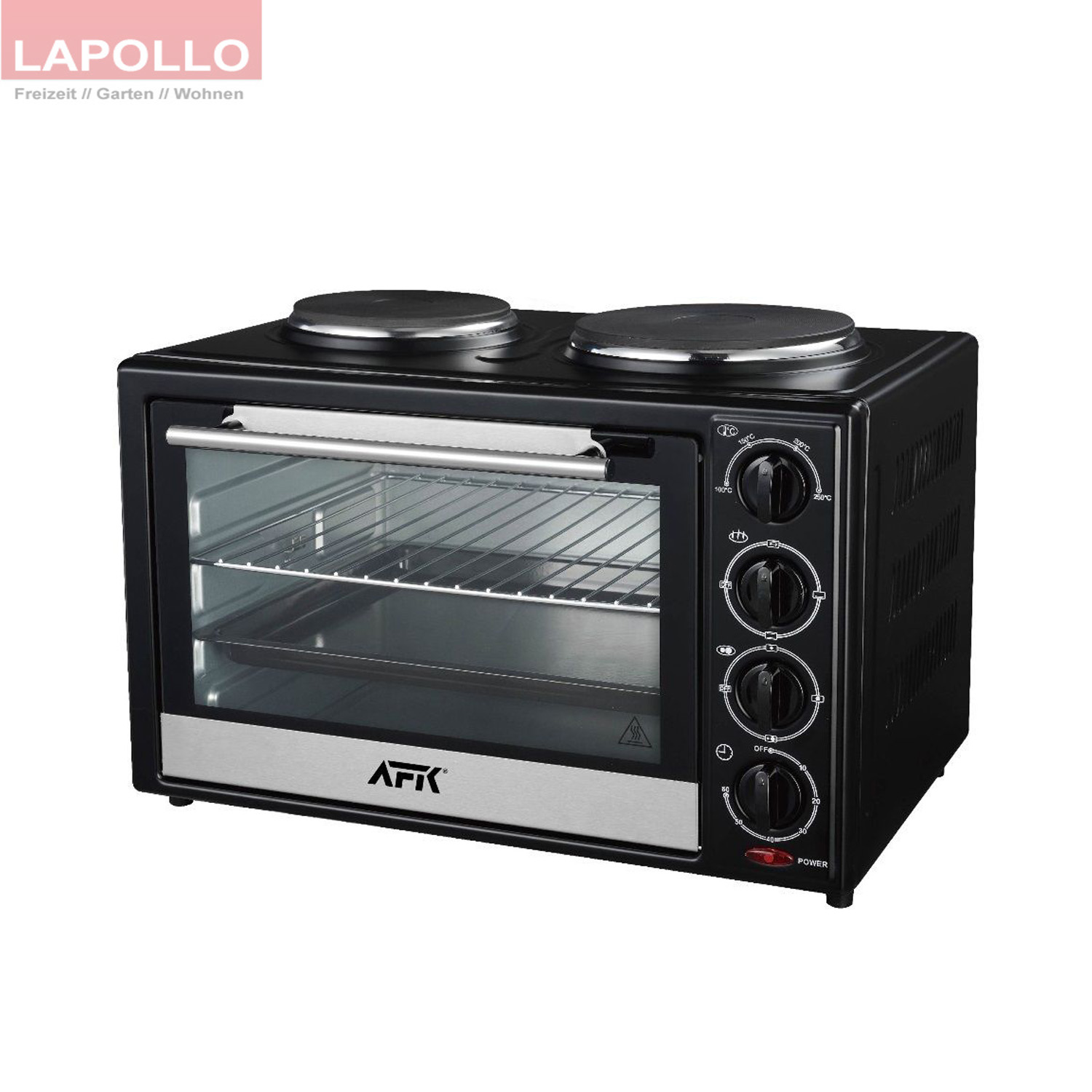 backofen mit doppelkochplatte 35 l kochplatte minibackofen pizzaofen ofen spie ebay. Black Bedroom Furniture Sets. Home Design Ideas