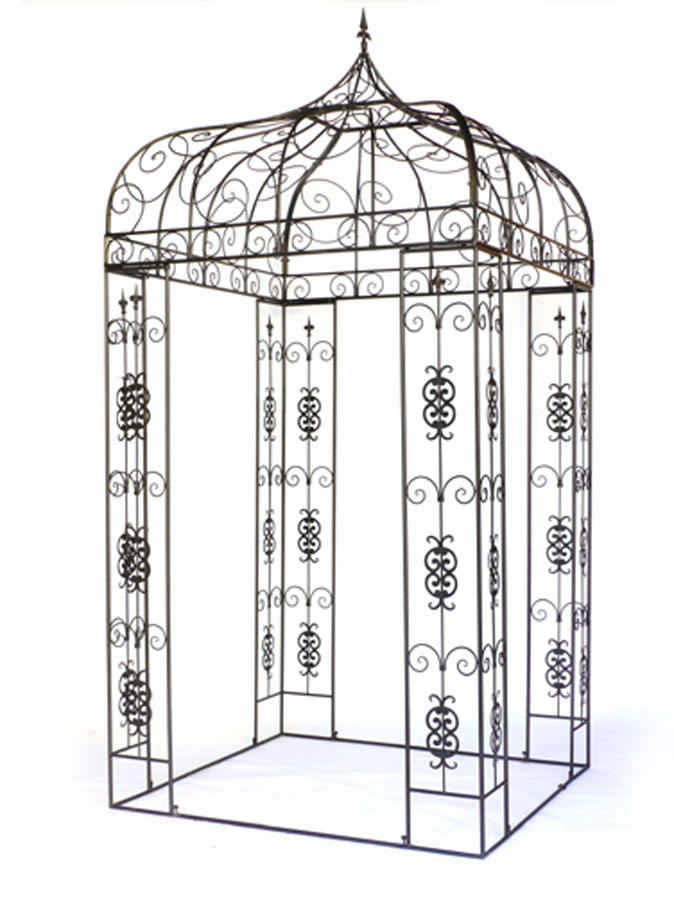 xxl pavillon pergola laube gartenpavillon metall eckig h 310 cm ebay. Black Bedroom Furniture Sets. Home Design Ideas