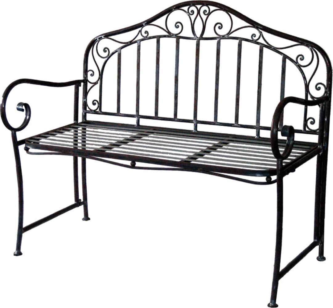 dekorative bank metall breite 110 cm gartenbank metallbank 2 sitzer ebay. Black Bedroom Furniture Sets. Home Design Ideas