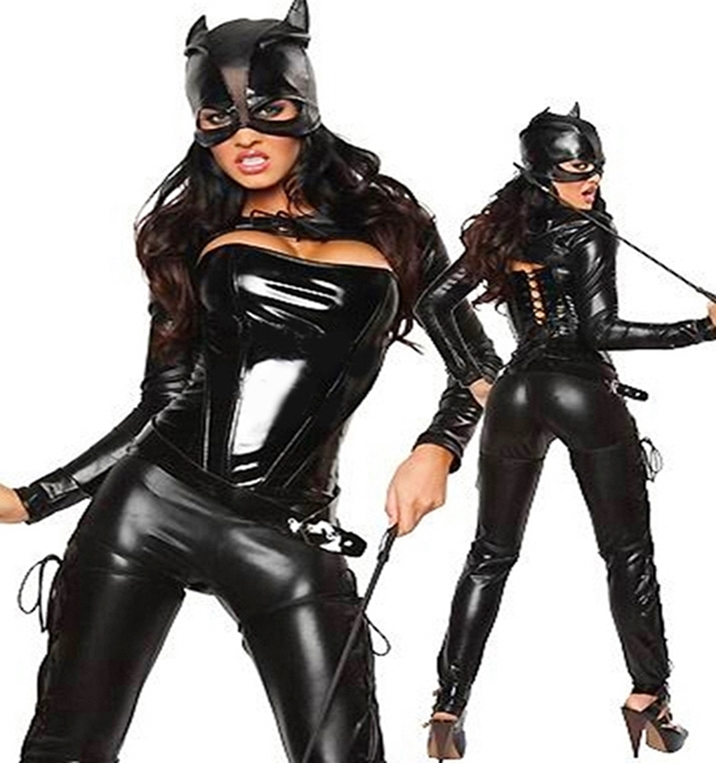 sexy damen kost m bat cat katze katzenkost m catsuit woman girl s xl ebay. Black Bedroom Furniture Sets. Home Design Ideas